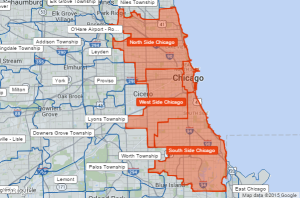 Chicago's Regions (Courtesy Google)