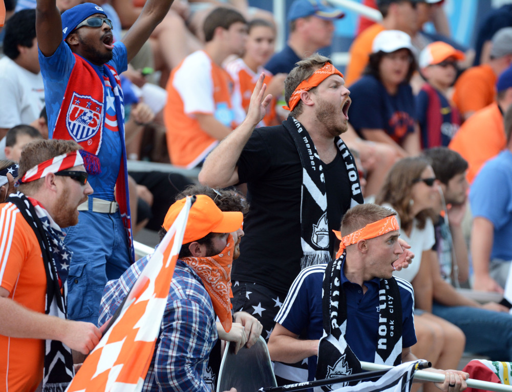 Carolina Railhawks supporters on July 4th, 2015 (Photo: Carolina Railhawks)