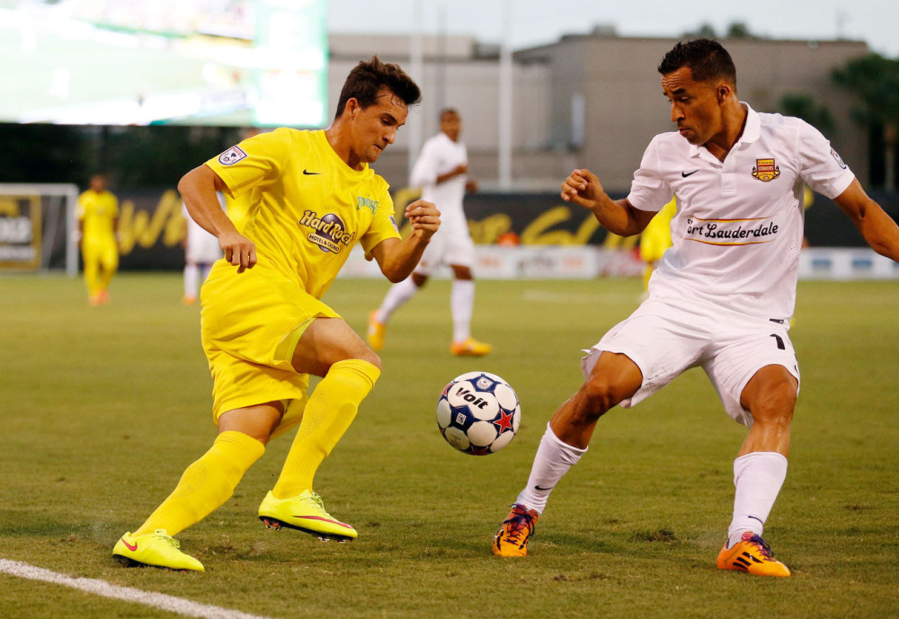 The Rowdies and Strikers faced each other at Al Lang Stadium in the spring (Photo: Tampa Bay Rowdies)