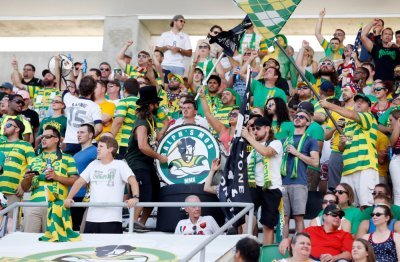 Ralph's Mob have recruited Slash to play their drum. (Photo by Matt May/Tampa Bay Rowdies)