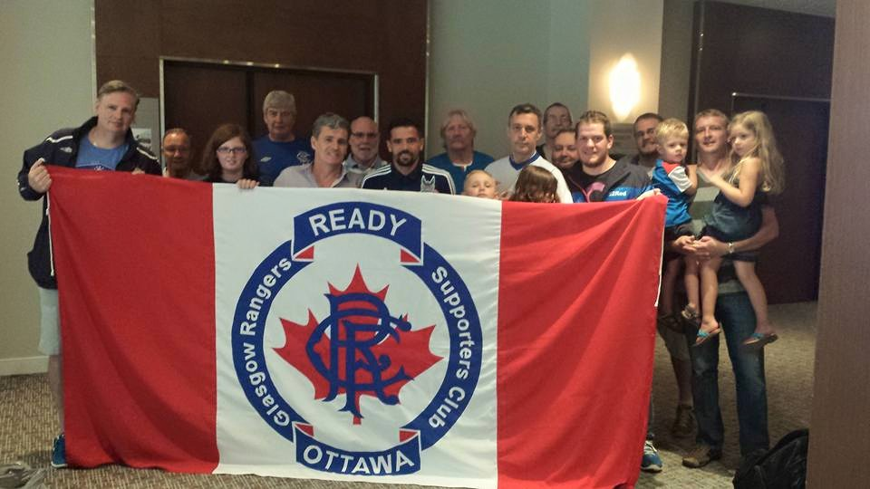 Nacho Novo meets Ottawa Rangers Supporters Club at hotel.