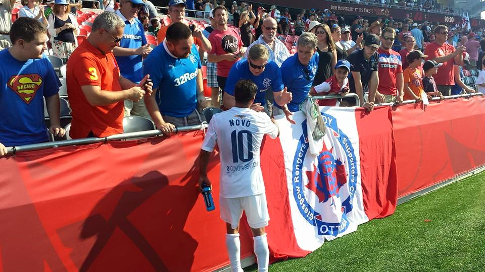 Novo meets with Rangers fans following 2-1 loss to Ottawa Fury