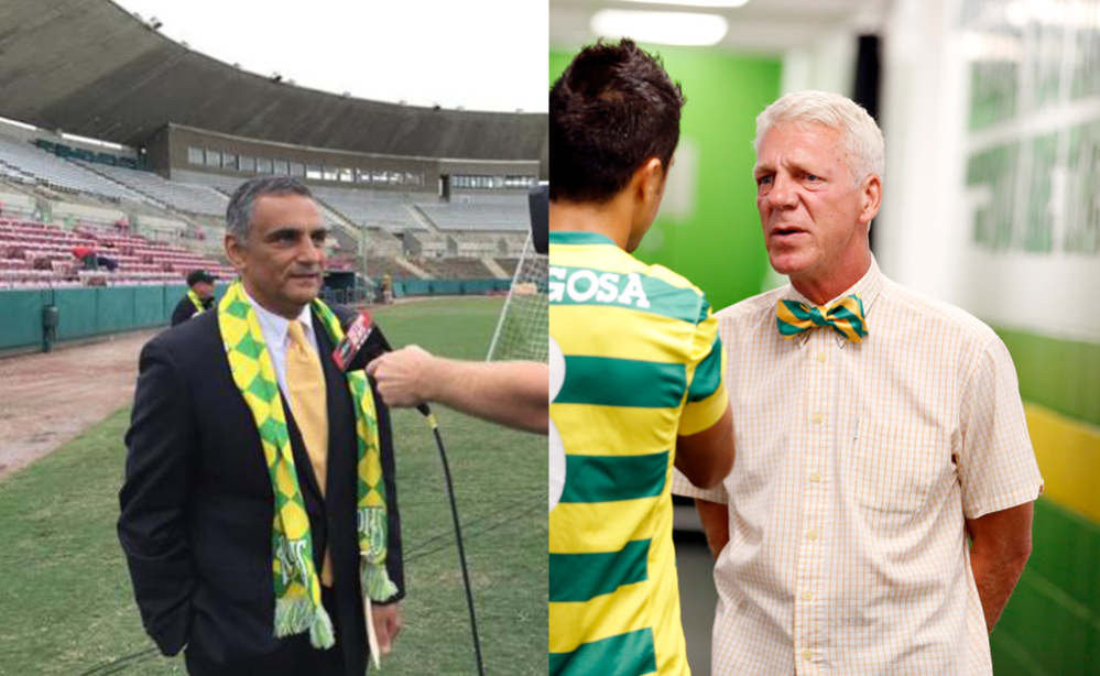 Former Tampa GM Farrukh Quraishi and former coach Thomas Rongen (Photos: Tampa Bay Rowdies)