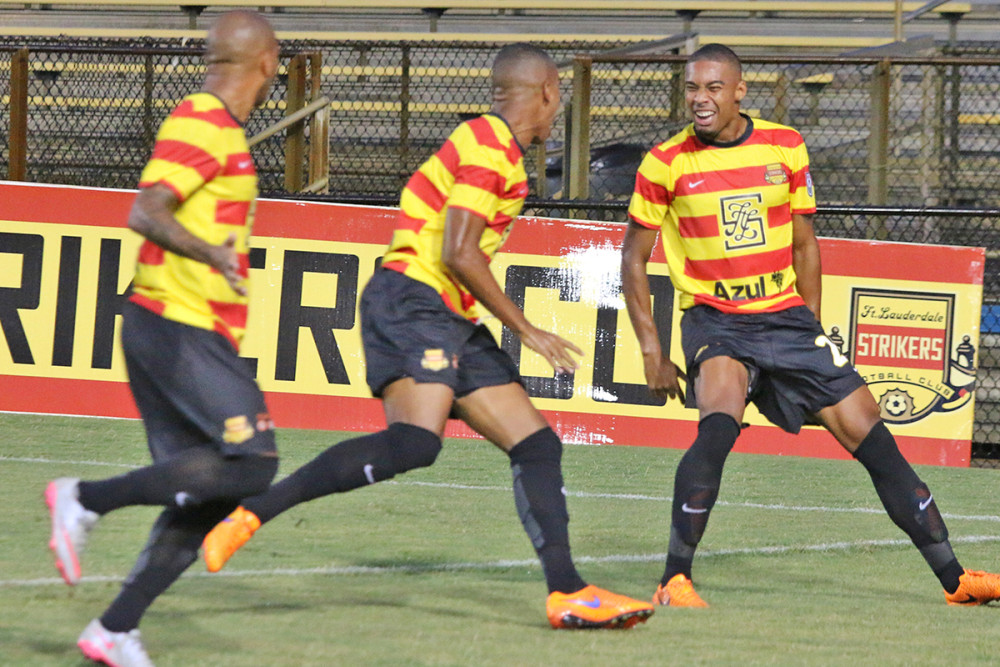 Stefano Pinho celebrates a goal (Photo: Fort Lauderdale Strikers)