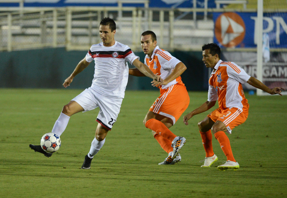 Sept 4, 2015; The Carolina RailHawks hosted the Atlanta Silverbacks in a fall NASL match at Wake Med Soccer Park. (Photo: Rob Kinnan-Carolina RailHawks)