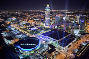 Downtown OKC is home to the Thunder