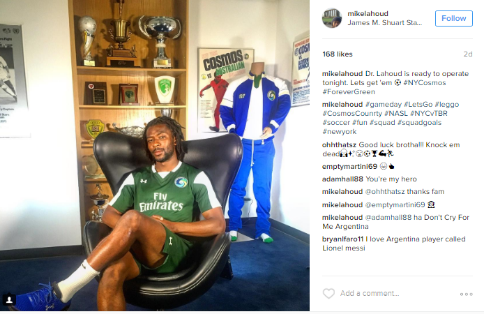 "Lahoud sits in Cosmos heaven just three days ago, ""#ForeverGreen"" didnt last that long"
