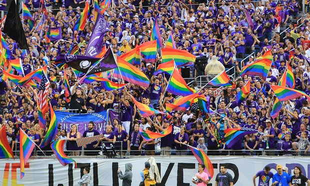 Orlando Fans Show Support For The LGBT Community