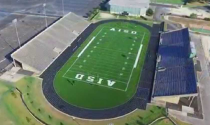 Burger Stadium is 15 minutes from downtown, but owned by the school district